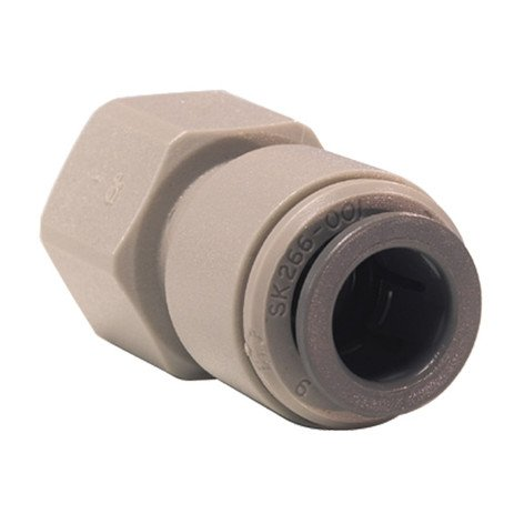 """John Guest Tap Adaptor 3/8"""" push fit x 7/16"""" - 24 UNS connections for Glacier Water Systems Products in Northern Ireland."""