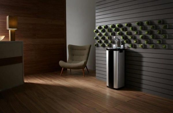 b5 Plumbed In Water Fountain Water Cooler. High End, Streamlined Design. From Glacier Water Systems.