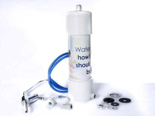 Glacier Compact Water Filter for business with chrome tap kit to ensure there is no heavy metals, chlorine or chemicals in the drinking water at work.