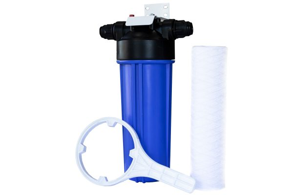 GW5 8x37 New Installation Kit with prefilter, prefilter housing, spanner and bracket to remove dust, grime, sand and dirt from mains water.