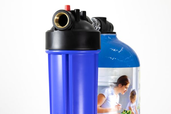 Glacier Supreme inline whole system water filter with prefilter installation kit to ensure all the water in the building is free from chemicals, chlorine and heavy metals.