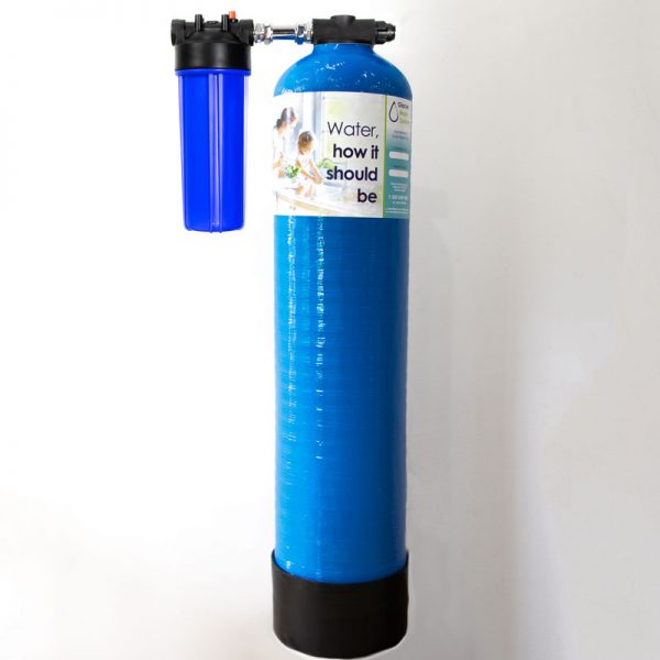 Glacier SupremeXL inline whole system water filter with prefilter installation kit to ensure all the water in the building is free from chemicals, chlorine and heavy metals.