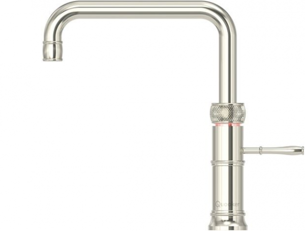 Quooker Classic Boiling Water Tap Fusion Square in Nickel with Glacier Water Systems.