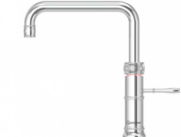 Quooker Classic Boiling Water Tap Fusion Square in Polished Chrome with Glacier Water Systems.