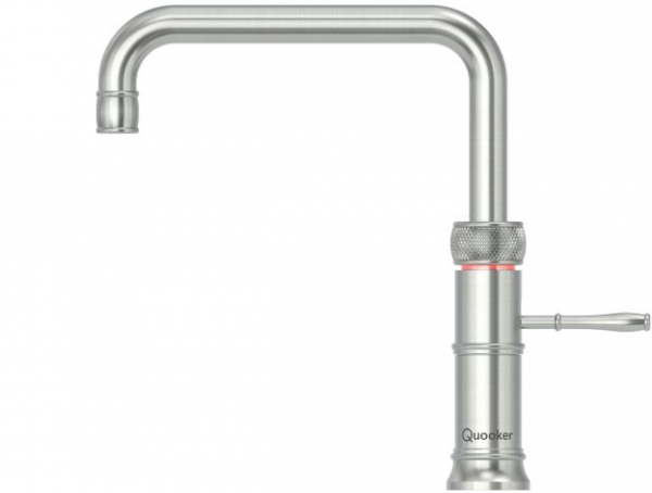 Quooker Classic Boiling Water Tap Fusion Square in Stainless Steel with Glacier Water Systems.