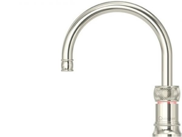 Quooker Classic Nordic Round Nickel Single Boiling Water Tap from Glacier Water System, Northern Ireland.