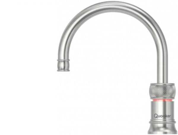 Quooker Classic Nordic Round Stainless Steel Single Boiling Water Tap from Glacier Water System, Northern Ireland.