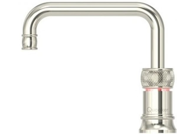 Quooker Classic Nordic Square Nickel Single Boiling Water Tap from Glacier Water System, Northern Ireland.