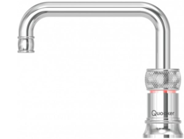 Quooker Classic Nordic Square Polished Chrome Single Boiling Water Tap from Glacier Water System, Northern Ireland.