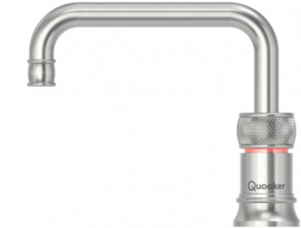 Quooker Classic Nordic Square Stainless Steel Single Boiling Water Tap from Glacier Water System, Northern Ireland.