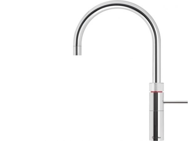 Quooker Fusion Boiling Water Tap Round in Polished Chrome with Glacier Water Systems.