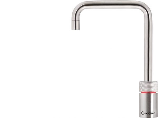 Quooker Nordic Square Single Boiling Water Tap in Stainless Steel from Glacier Water Systems, Northern Ireland