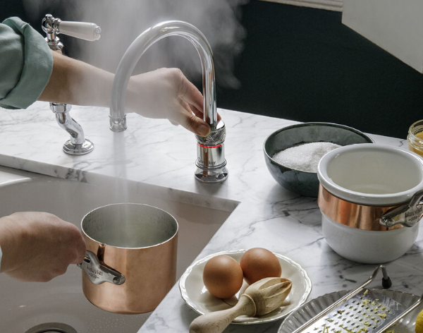 Quooker Classic Nordic Single Boiling Water Tap. Available from Glacier Water Systems Ltd in Northern Ireland.