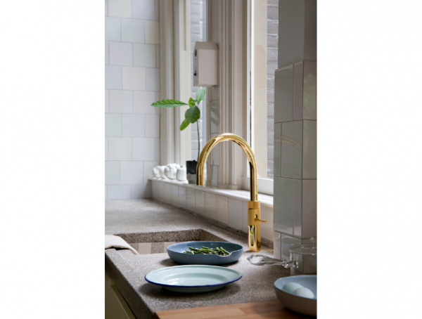 Quooker Gold Round Fusion Hot, Cold and Boiling Water Tap