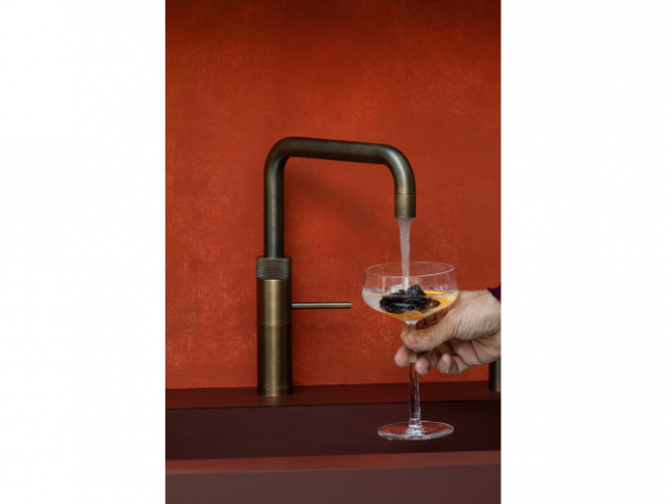 Glacier Water Systems Quooker Square in Patinated Brass