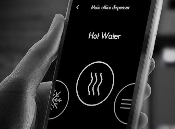 Hands free water cooler. Contactless water cooler. Water cooler Northern Ireland